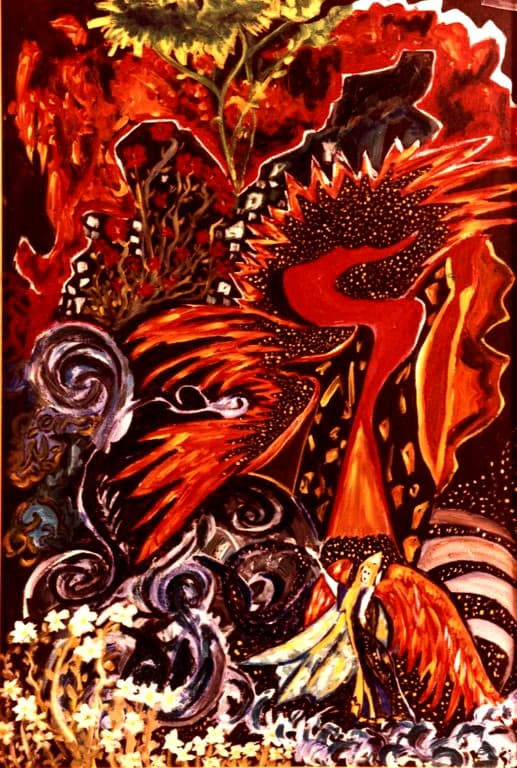 Fire Bird and the Goddess of Creativity (2)