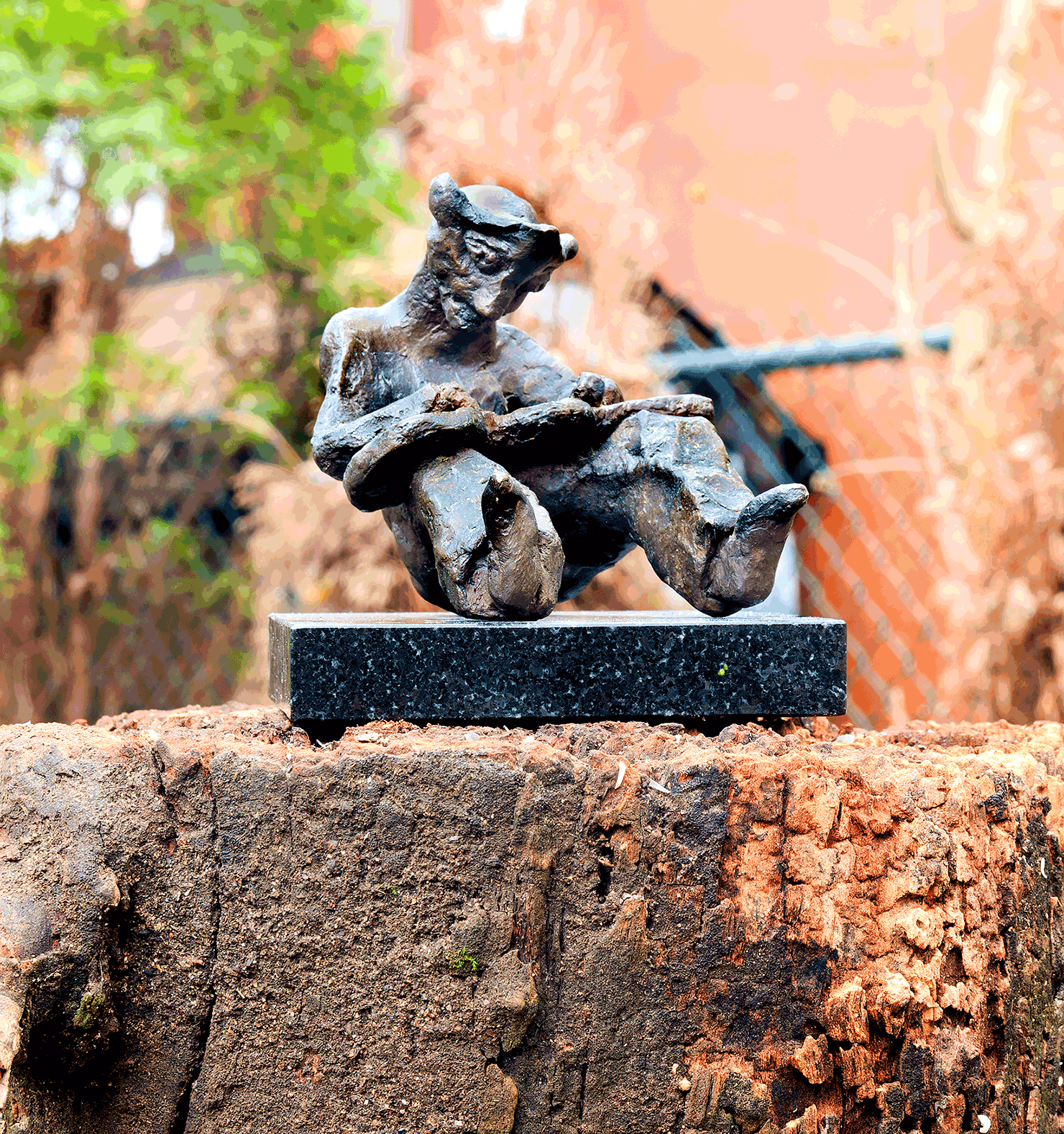 bronze sculpture - A Hawaiian Steel Guitar Player