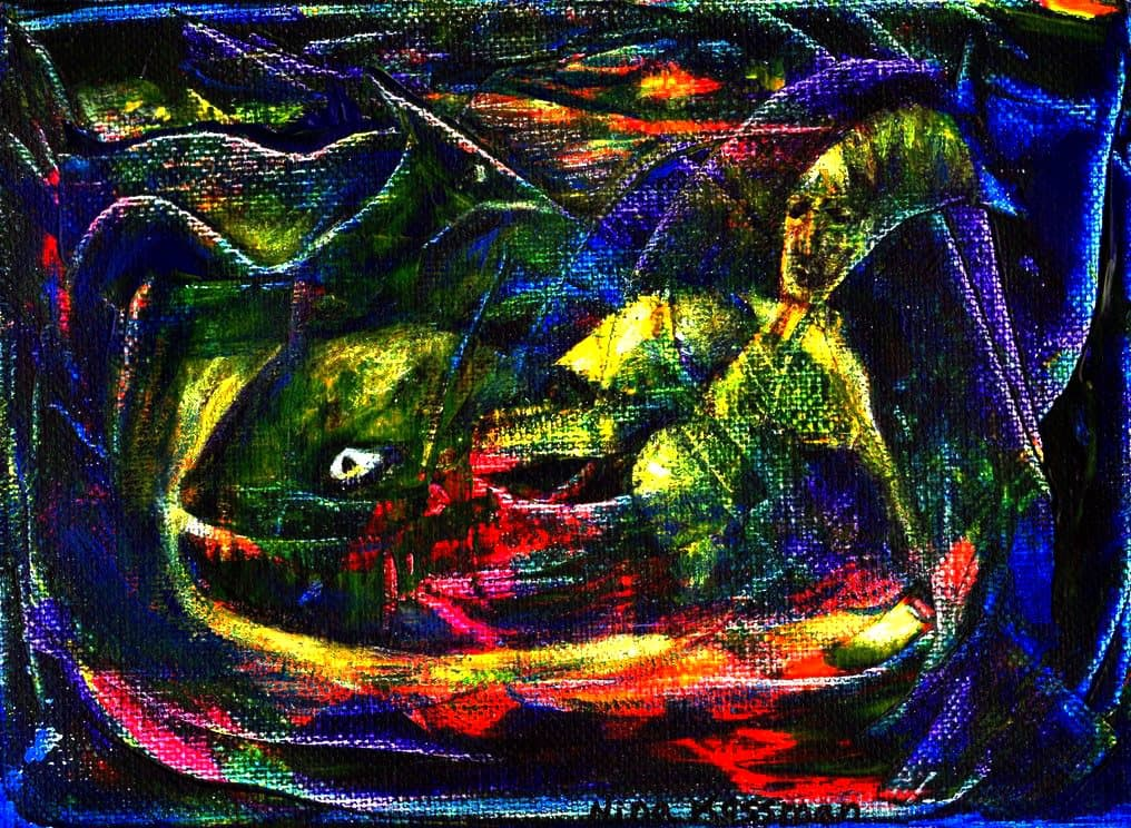Painting - Jonah-and-the-Whale
