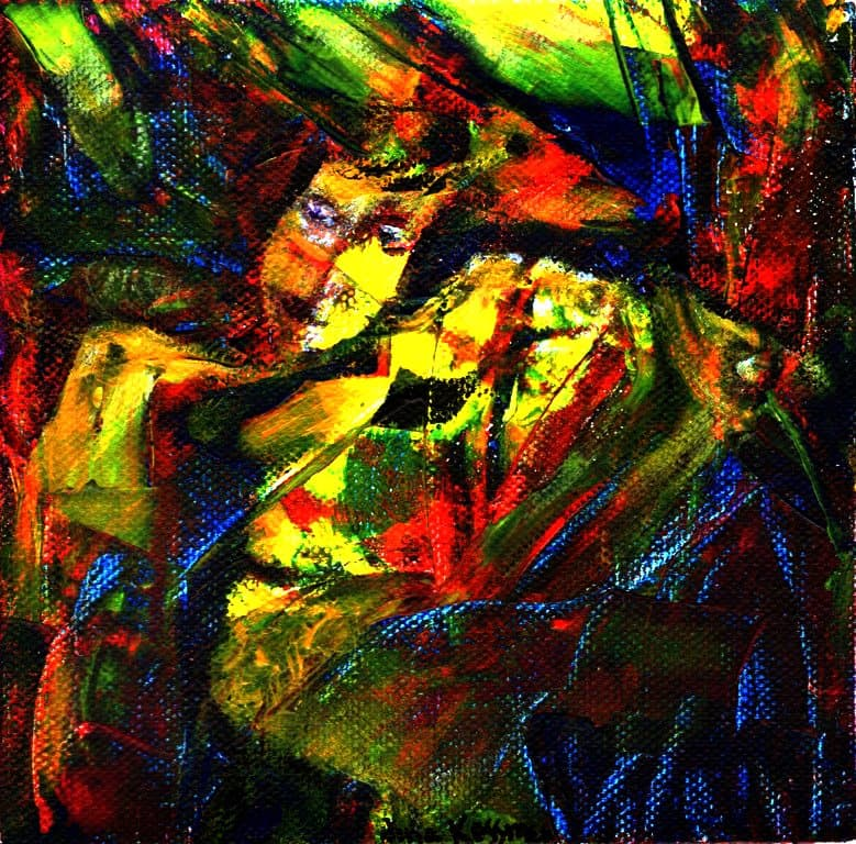 Painting - Pan-and-the-Head-of-Orpheus