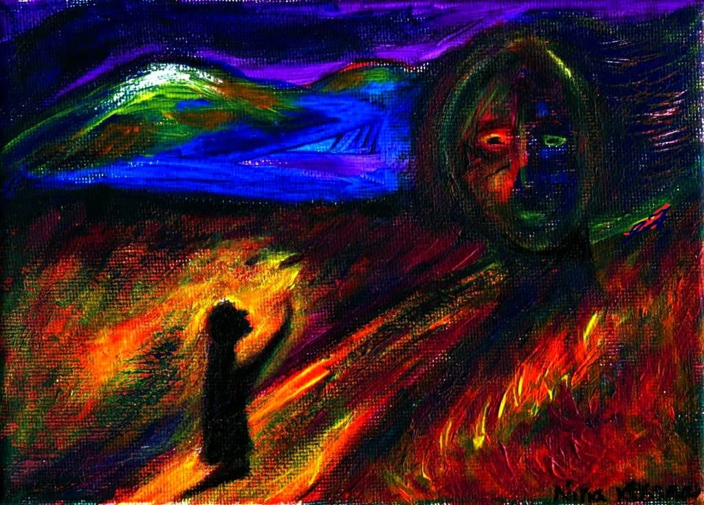 Painting - V-sumrachnoe-utro